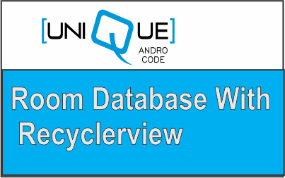 android room database with recyclerview