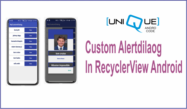 Custom Alertdialog In Recyclerview Android - Unique Andro Code