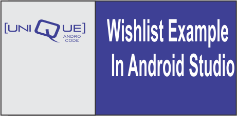 wishlist example in android studio